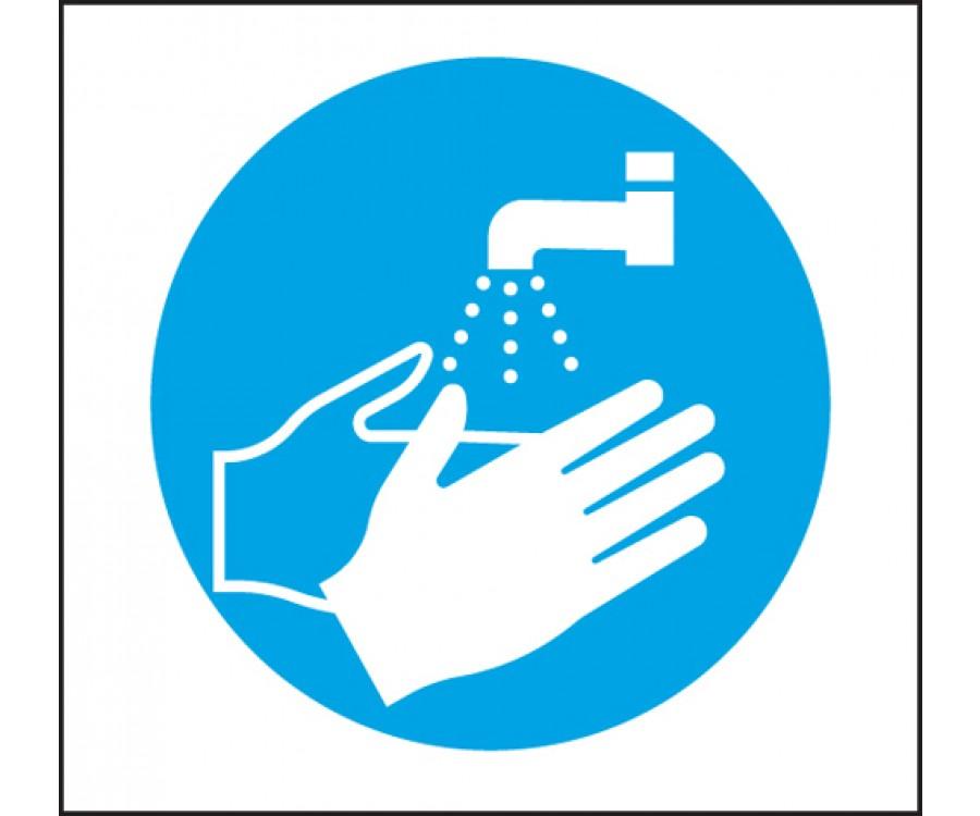 Wash Hands Symbol Notice Licensed Trade Supplies