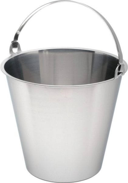 Stainless Steel 12 Litre Graduated Bucket