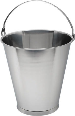 Stainless Steel 10 Litre Graduated Skirted Bucket