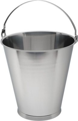 Stainless Steel 12 Litre Graduated Skirted Bucket