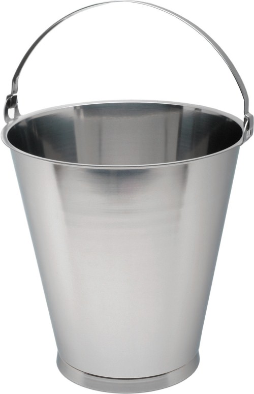 Stainless Steel 15 Litre Graduated Skirted Bucket