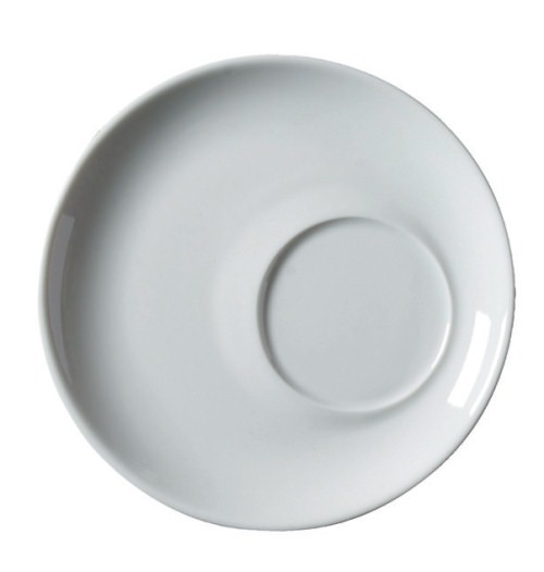Royal Genware Offset saucer for 14oz Bowl Shape Cup White