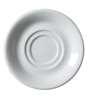 Royal Genware Double Well Saucer 15cm White