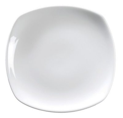 Royal Genware Rounded Square Plate 25cm White