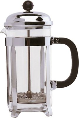 6 Cup Cafetiere - Chrome. Pyrex - 800ml / 26oz