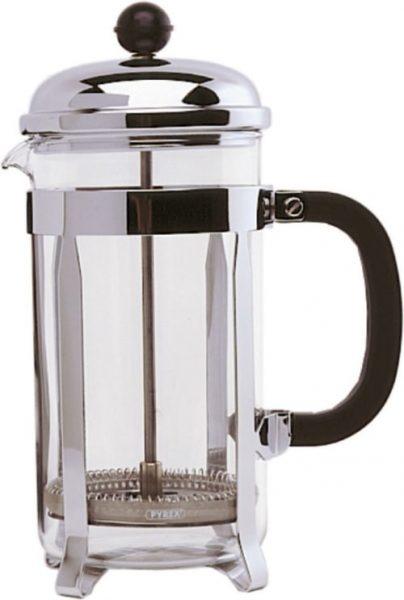 6 Cup Cafetiere - Chrome. Pyrex - 800ml / 26oz