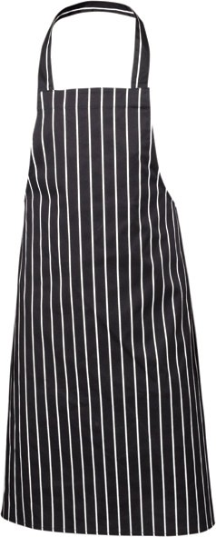 Navy butchers stripe bib apron 87cm x 100cm
