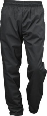 Black Baggies Chef Trousers