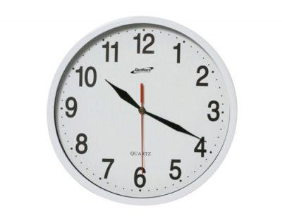 Wall Clock - White - 24cm Diameter