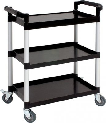 Genware Large 3 Tier Clearing Trolley