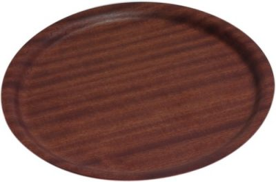 Darkwood Round Tray Non-Slip 270mm diameter