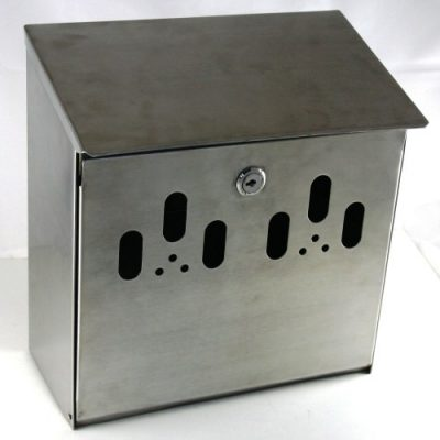 Genware Stainless Steel Wall Mounted Outdoor Ashtray