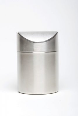 Stainless Steel Table Bin 16.5cm high x 11.5cm diameter