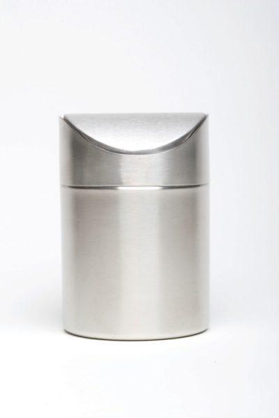 Stainless Steel Table Bin 16.5cm high x 11.5cm diameter