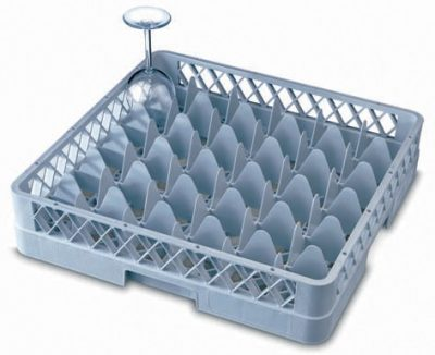 Genware 36 Compartment Glass Rack