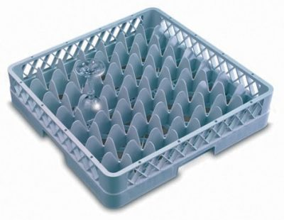 Genware 49 Compartment Glass Rack