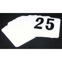 Table Numbers 1 - 25