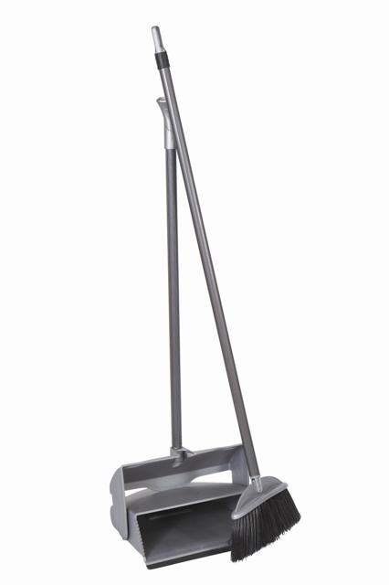 Lobby Dustpan & Brush Set - Grey