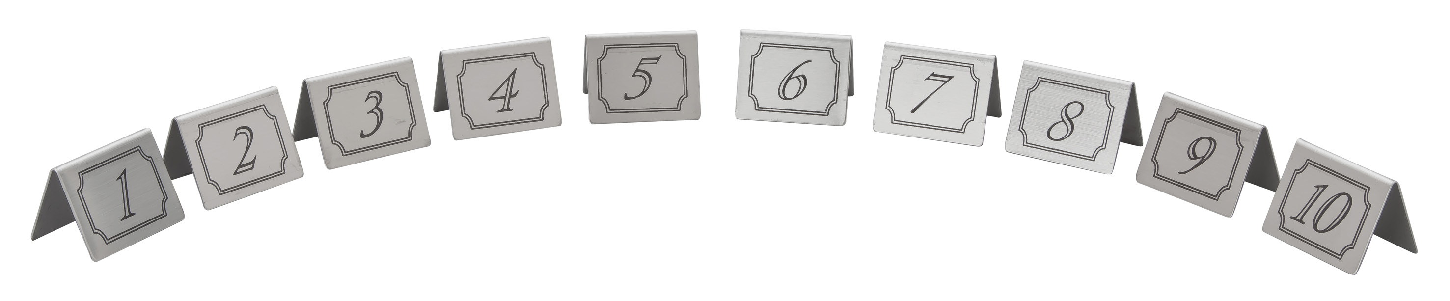 Stainless Steel Table Numbers Licensed Trade Supplies - Stainless steel table numbers