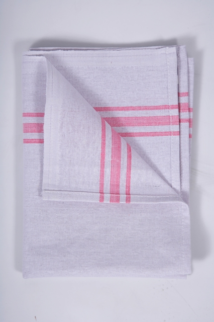 White Cotton Tea Towel - 19""