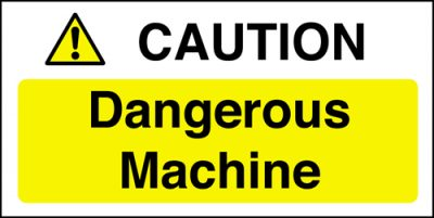 Catering Equipment Safety Notice - Caution Dangerous Machine