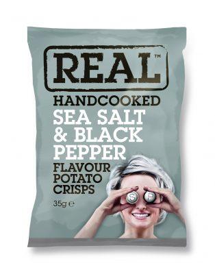 Real Crisps Salt & Pepper 35g