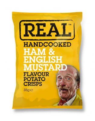 Real Crisps Ham & Mustard 35g