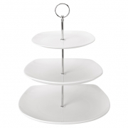 Square 3 Tiered Cake Plate - Platinum Collection