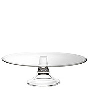 """13"""" Banquet Footed Cake Plate - Platinum Collection"""