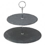 2 Tier Slate Platter - Platinum Collection
