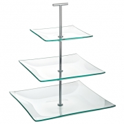 Aura 3 Tiered Square Plate - Platinum Collection