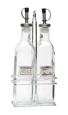 Square Oil & Vinegar Set - Glass