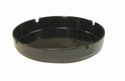 Black Melamine Ashtray - Pack of 10