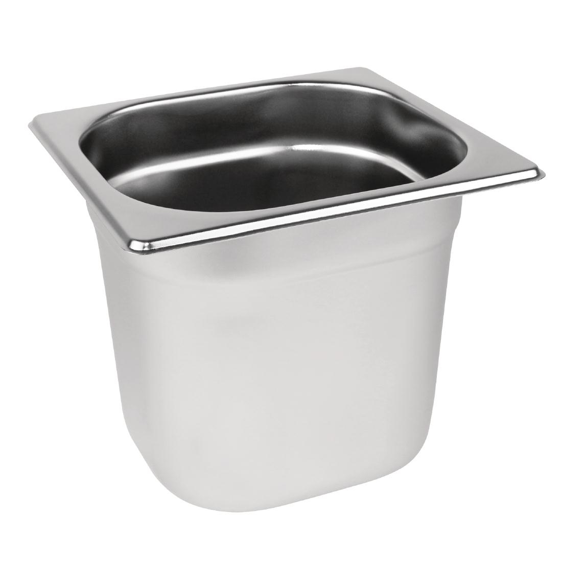 1/6 Stainless Steel Gn Pan Gastronorm Pans For Canteen